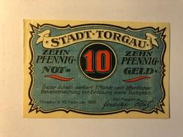 Allemagne Notgeld Torgau 10 Pfennig - [ 3] 1918-1933 : Weimar Republic