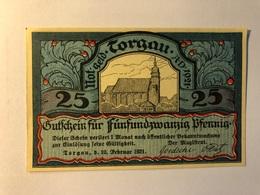 Allemagne Notgeld Torgau 25 Pfennig - [ 3] 1918-1933 : Weimar Republic