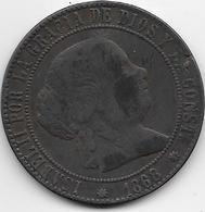 Espagne - 5 Centimos - 1868 - [ 1] …-1931 : Royaume