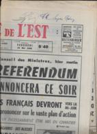 La LIBERTE DE L'EST  24 MAI 1968 - Journaux - Quotidiens
