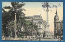 BUENOS AIRES PLAZA LAVALLE CON ESTATUA DEL GENERAL LAVALLE 1909 - Argentina