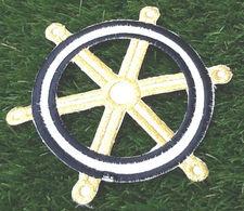 Barre à Roue Applique Tissu Thermocollant (Diamètre :155mm) - Loisirs Créatifs