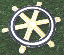 Barre à Roue Applique Tissu Thermocollant (Diamètre :155mm) - Creative Hobbies