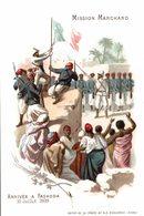 CHROMO CHOCOLAT D'AIGUEBELLE MISSION MARCHAND ARRIVEE A FASHODA JUILLET 1898 - Aiguebelle