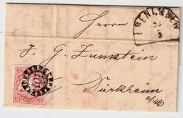 """1868, Klar """" 101 """" Edenkoben, Kleiner Brief! ,  #a1236 - Bavaria"""