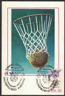ZN31   BASKETBALL, MEN EUROPEAN CHAMPIONSHIP, MAXICARD, CARTES MAXIMUM, OBLIT FDC, 1979, ITALY - Basket-ball