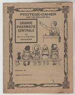 PROTEGE CAHIER AVEC PUBLICITE SUR RABATS GRANDE PHARMACIE CENTRALE 19 Rue De La République ORLEANS (Loiret) - Book Covers