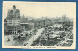 BUENOS AIRES PARQUE COLON Y VISTA PARCIAL 1925 - Argentina