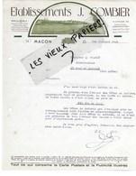 71 - Saône-et-loire - MACON - Facture COMBIER - Imprimerie, Phototypie, Bromure, Typographie  - 1935 - REF 108D - Francia