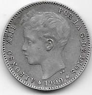 Espagne - 1 Peseta - 1900 - Argent - [ 1] …-1931 : Royaume