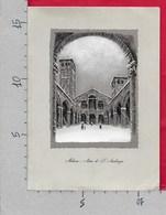PIEGHEVOLE ITALIA - MILANO - Atrio Di S. Ambrogio - Edizioni G. Menga  - 12 X 16 - Pasqua 1957 - Vecchi Documenti