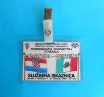 CROATIA V MEXICO - 1992. International Friendly Football Soccer Match Pass Ticket * Fussball Calcio Futbol Kroatien - Match Tickets