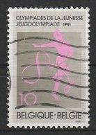 MiNr. 2454 Belgien / 1991, 6. April. Sport: 1. Europäisches Olympisches Jugendfestival, Brüssel; Korfball-Weltmeistersch - Gebraucht