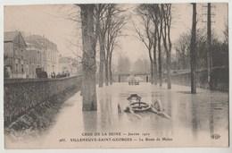 CPA 94 Crue De La Seine Janvier 1910 - VILLENEUVE SAINT GEORGES - La Route De Melun - Villeneuve Saint Georges