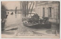 CPA 94 Crue De La Seine Janvier 1910 - VILLENEUVE SAINT GEORGES - Le Sauvetage - Villeneuve Saint Georges