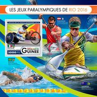 GUINEA 2016 - Canoe, Rio Paralympics - YT BF1991; CV=20 € - Kano