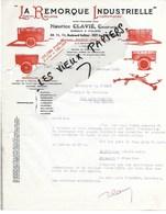 92 - Hauts-de-seine - ISSY-LES-MOULINEAUX - Facture CLAVIE - Construction De Remorques - 1935 - REF 108D - 1900 – 1949