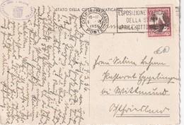 VATICAN 1936 CARTE POSTALE - Lettres & Documents