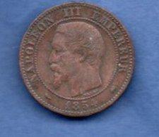 ---  2 Centimes 1854 D  ( Petit D)  --  état  TB - France