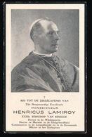 BISSCHOP BRUGGE - Z.H.E. HENRICUS LAMIROY  HEURNE 1883 - BRUGGE 1952  - 2 AFBEELDINGEN - Décès