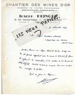 95 - Val-d'oise - BEZONS - Facture BRINGER - Chantier Des Mines D'or - Charbons - 1953 - REF 108D - 1900 – 1949