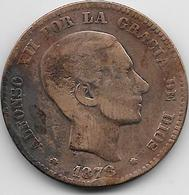 Espagne - 10 Centimos - 1878 - [ 1] …-1931 : Royaume