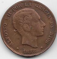 Espagne - 10 Centimos - 1878 OM - [ 1] …-1931 : Royaume