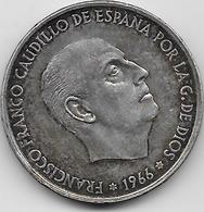 Espagne - 100 Pesetas - 1966 - Argent - [ 5] 1949-… : Royaume