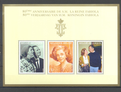 BLOK 156 80e VERJAARDAG KONINGIN FABIOLA  POSTFRIS** 2008 - Blocks & Kleinbögen 1962-....