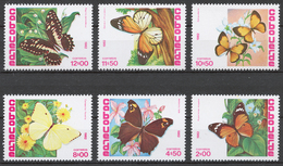 Cape Verde 1982 Mi# 467-72** BUTTERFLIES - Cap Vert