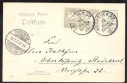 BAYERN Postkarte Mi. P 65/03 Mit Zusatzfrankatur Versanden Muenchen 1903 - Beieren
