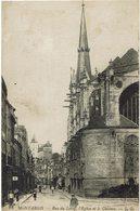 CPA - France - (45) Loiret - Montargis - Rue Du Loing, L'Eglise Et Le Château - Montargis