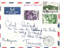 Cover Brief . Belle Lettre Comores 1954 Postée De Moroni . TB - Comores (1950-1975)
