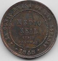 Espagne - Médio Réal - 1848 M - SUP - [ 1] …-1931 : Royaume