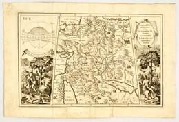 1710 Paradisi Terrestris Vera Et Sacris Literis Conformis Exhibitio Geographica', Scherer, Heinrich. A Közel-Kelet és A  - Engravings