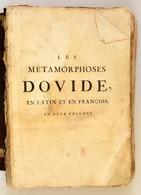 Ovidius, [Publius Naso]: Les Métamorphoses D'Ovide, En Latin, Traduites En François, Avec Des Remarques, Et Des Explicat - Engravings