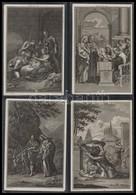 1815 56 Db Rézmetszet Az újszövetség Jeleneteivel. Mindegyik Jelzett. 10x14 Cm  / 56 Copper Plate Engravings From The Bi - Engravings