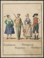 XIX. Sz. Eleje: Karintiaiak Sefalonierek. Kézzel Színezett Rézmetszet / Karinthians And Sephaloniers Hand Colored Copper - Engravings