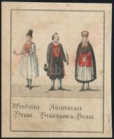 XIX. Sz. Eleje: Vendek, Altenburgiak. Kézzel Színezett Rézmetszet / Wends And Altenburgers. Hand Colored Copper Plate En - Engravings