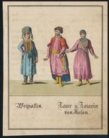 XIX. Sz. Eleje: Tatárok Kazanyból. Kézzel Színezett Rézmetszet / Tatars From Kazan Hand Colored Copper Plate Engraving 9 - Engravings