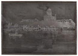 Morelli Gusztáv (1848-1909): Esztergomi Bazilika A Dunával. Jelzett Fametszet Nyomódúc / Signed Wood Engraving Plate. 20 - Engravings