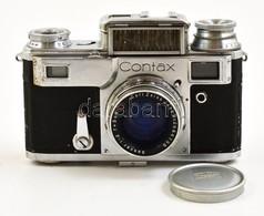 Cca 1940 Zeiss Ikon Contax III Távmérős Fényképezőgép, Carl Zeiss Jena Sonnar 50mm F/2 Objektívvel, Működőképes állapotb - Cameras
