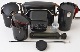 Praktica Fényképezőgép Felszerelés: Praktica PLC2 SLR Fényképezőgép, 3 Db Objektívvel: Pentacon Electric 29 Mm F/2.8, 50 - Cameras