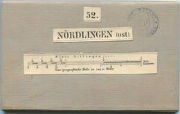 52 Nördlingen Ost - Topographische Karte Von Bayern ( Bayerische Generalstabskarte) 1:50'000 43cm X 52cm Auf Leinen Gez - Topographische Karten