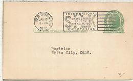 ESTADOS UNIDOS USA 1923 ENTERO POSTAL CON MAT RODILLO SILK EXPOSITION SEDA TEXTIL - Textiles