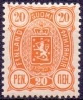 FINLAND 1889-1900 20 Pen Geel Wapentype Drie Cijfers Tanding 14x12 PF-MNH - 1856-1917 Russische Verwaltung