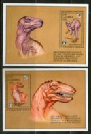 Gambia 1992 Dinosaurs Prehistoric Wildlife Animal Sc 1291-92 M/s X2 MNH # 5680 - Stamps