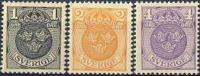 ZWEDEN 1910-11 Rijkswapen WM Kroon Serie PF-MNH-NEUF - Neufs