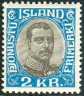 IJSLAND 1932 2kr Dienstzegel Christian X PF-MNH - Dienstpost