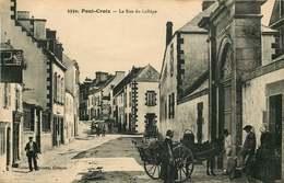 FINISTERE PONT CROIX  La Rue Du Collège - Pont-Croix